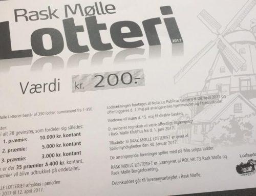 Vindernumre i Rask Mølle Lotteriet 2018