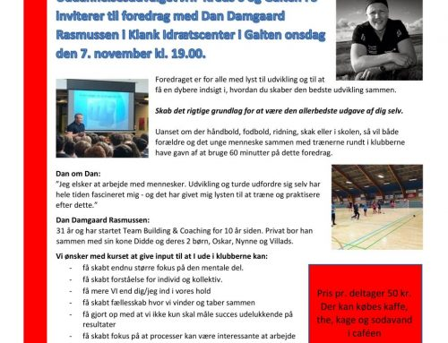 Foredrag med Dan Damgaard Rasmussen