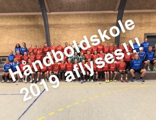 Håndboldskole 2019 aflyses