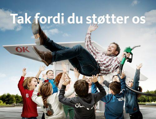 Årets sponsorbeløb fra OK & COOP Dagli'Brugsen Rask Mølle
