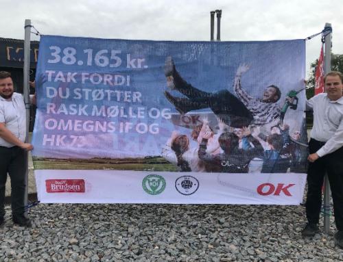 Årets sponsor beløb fra OK benzin